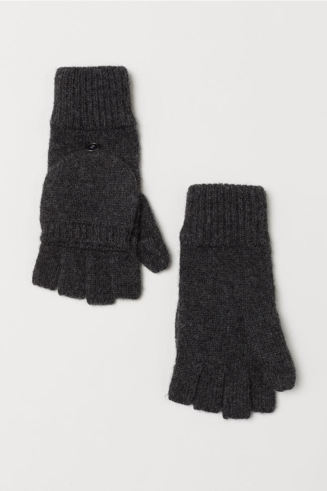 Mittens/fingerless gloves - Dark grey marl - Men | H&M GB