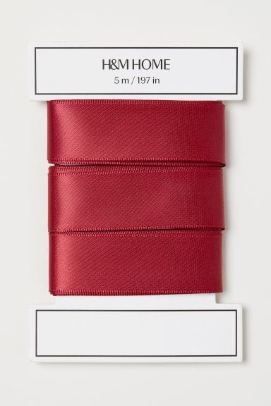 Satin ribbon - Dark red - Home All | H&M GB