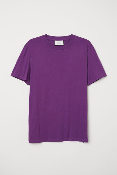 T-shirt in cotone e seta - Viola -  | H&M IT