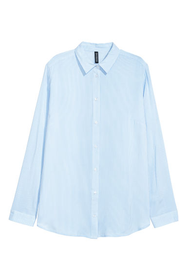 Viscose shirt - Light blue/White striped - Ladies | H&M