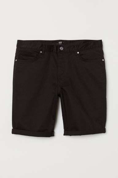 Cotton shorts Slim Fit - Black - Men | H&M