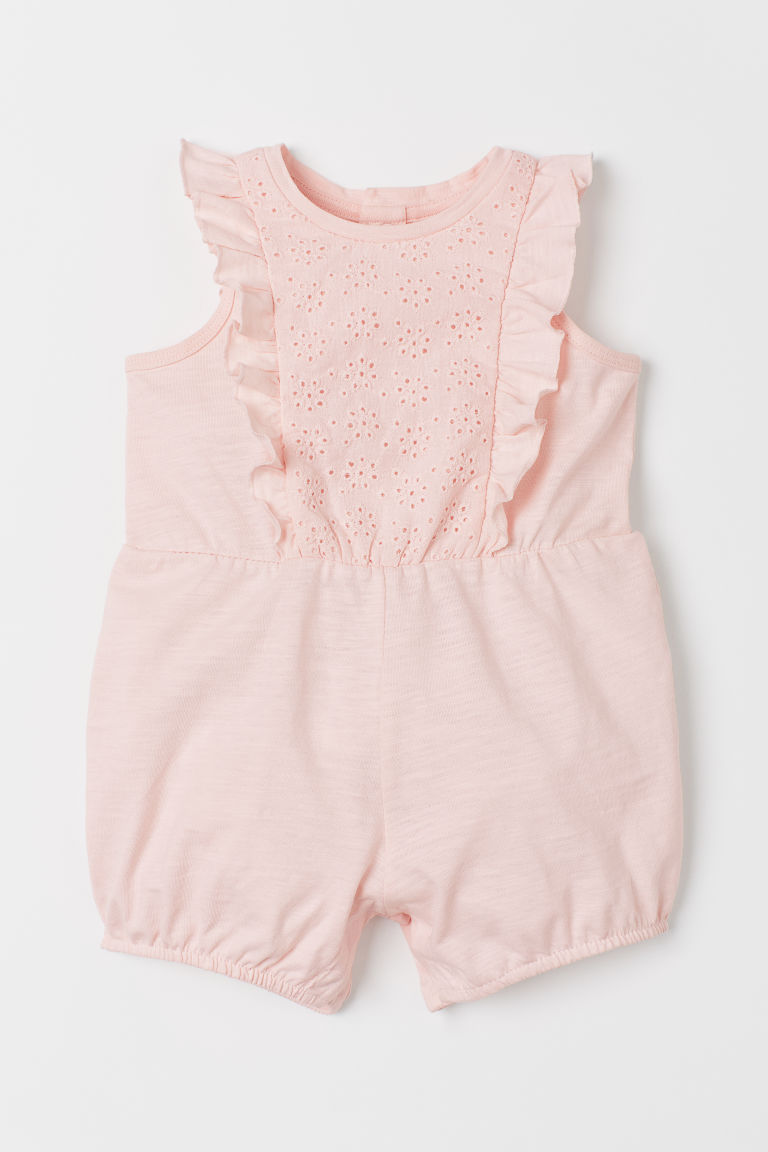 Flounce-sleeved playsuit - Light pink - Kids | H&M