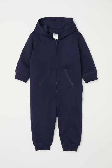 Sweatshirt all-in-one suit - Dark blue - Kids | H&M