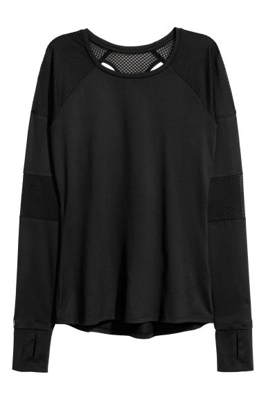 Running top - Black -  | H&M