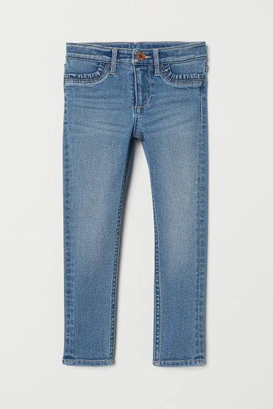 Skinny fit Jeans with frills - Denim blue - Kids | H&M