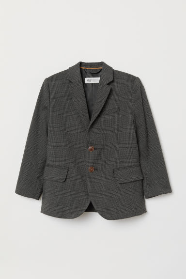 Jacket - Dark grey/Checked - Kids | H&M CN