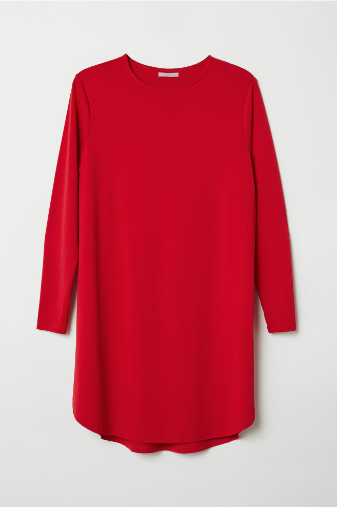 981e9c5a516 H&M+ Jersey tunic - Red - Ladies | H&M ...