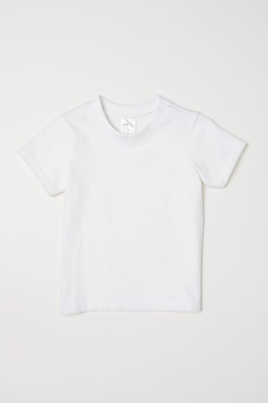 Cotton T-shirt - White - Kids | H&M CN