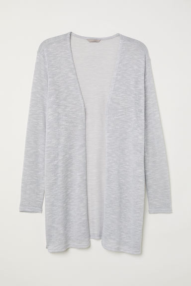 H&M+ Fine-knit cardigan - Grey marl - Ladies | H&M CN