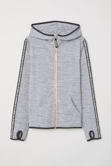 Sports jacket - Grey marl -  | H&M