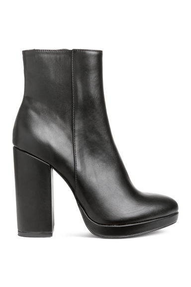 Platform ankle boots - Black - Ladies | H&M