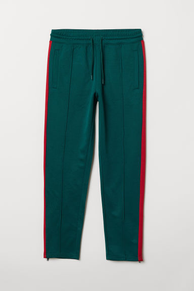 Sports trousers - Dark green/Red -  | H&M