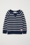 Dark blue/White striped
