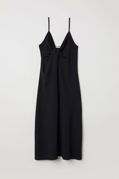 Abito con nodo decorativo - Nero - DONNA | H&M IT