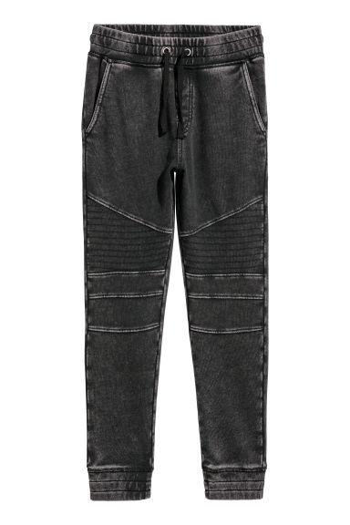 Joggers - Preto/Washed out -  | H&M PT