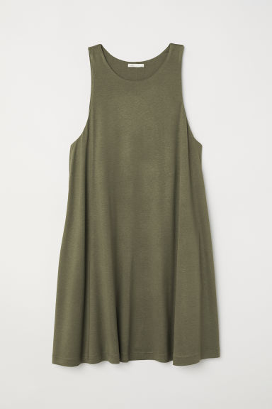 A-line dress - Khaki green - Ladies | H&M