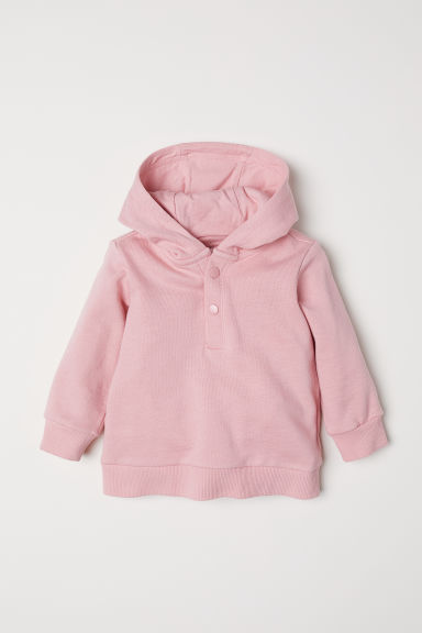 Cotton hooded top - Pink - Kids | H&M