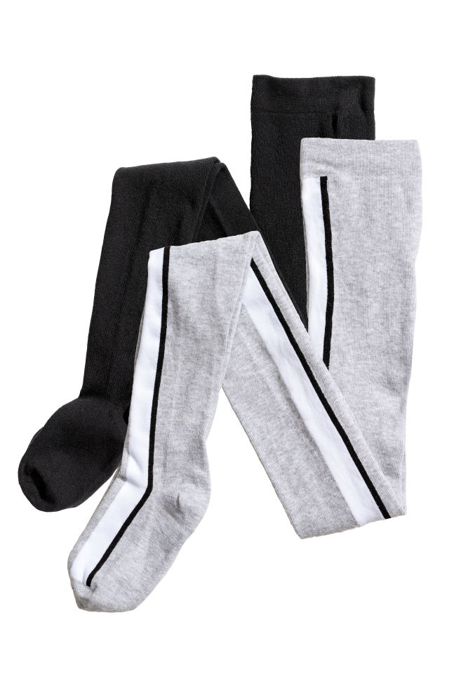 83d6111a3 2-pack Tights - Light gray - Kids