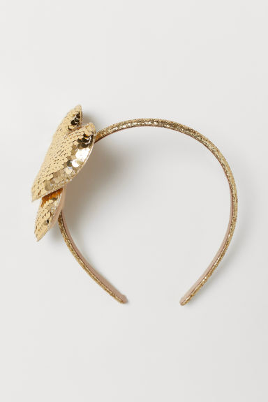 Alice band with sequins - Gold-coloured - Kids | H&M