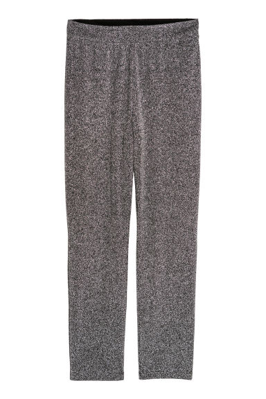 Glittery leggings - Black/Glitter -  | H&M IE