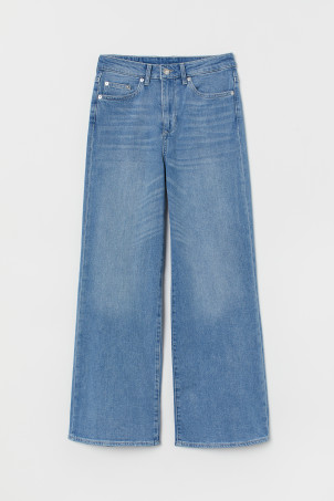 Jeans anchos High Ankle