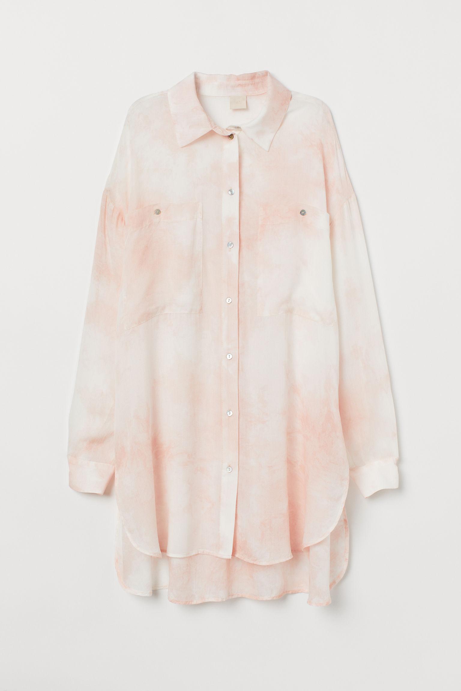 744fda0e280c03 Oversized Shirt - Light pink/batik - Ladies | H&M US