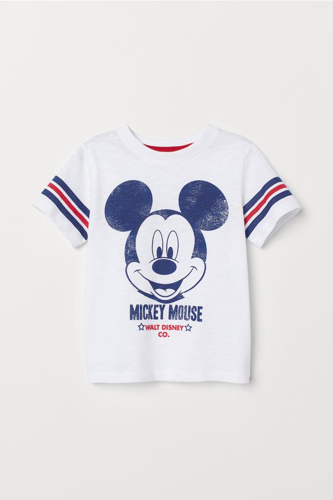 d7834b84ad ... Nyomott mintás póló - White/Mickey Mouse - GYEREK | H&M ...