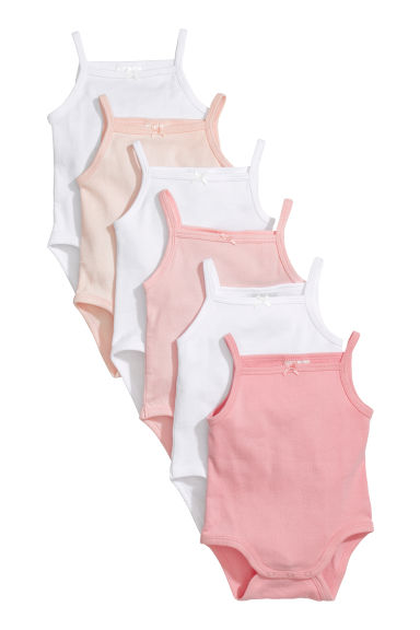Body senza maniche, 6 pz - Rosa -  | H&M IT