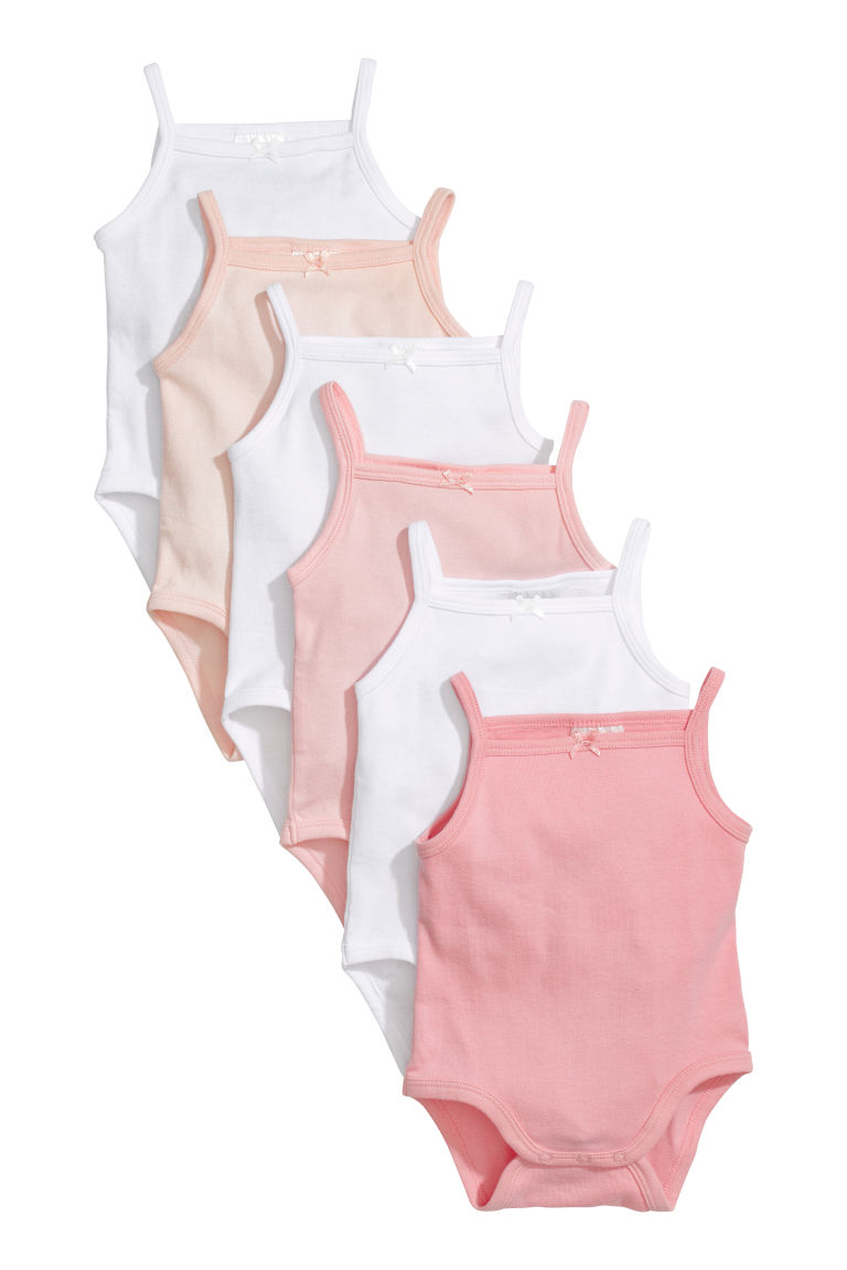 6er-Pack Ärmellose Bodys - Rosa - Kids | H&M AT