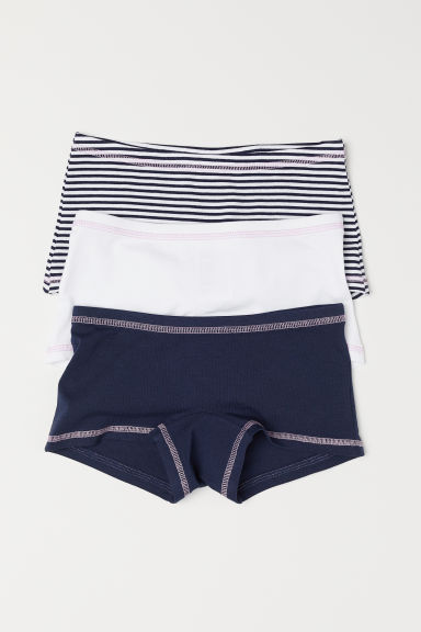 3-pack boxer briefs - Dark blue/Striped - Kids | H&M