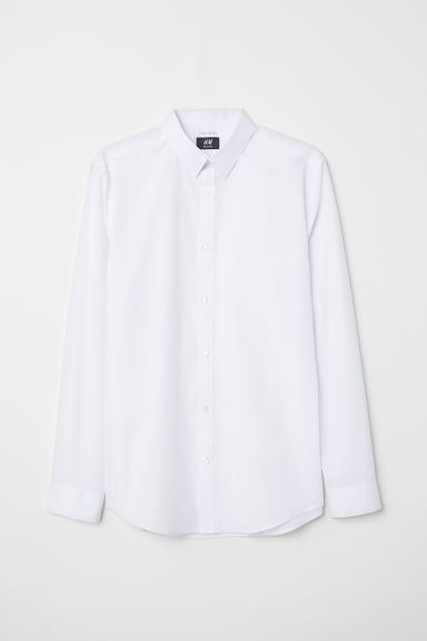 Easy-iron shirt Slim fit - White -  | H&M
