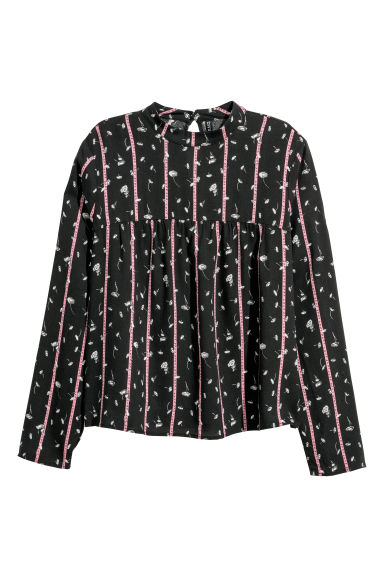 Patterned blouse - Black/Patterned -  | H&M