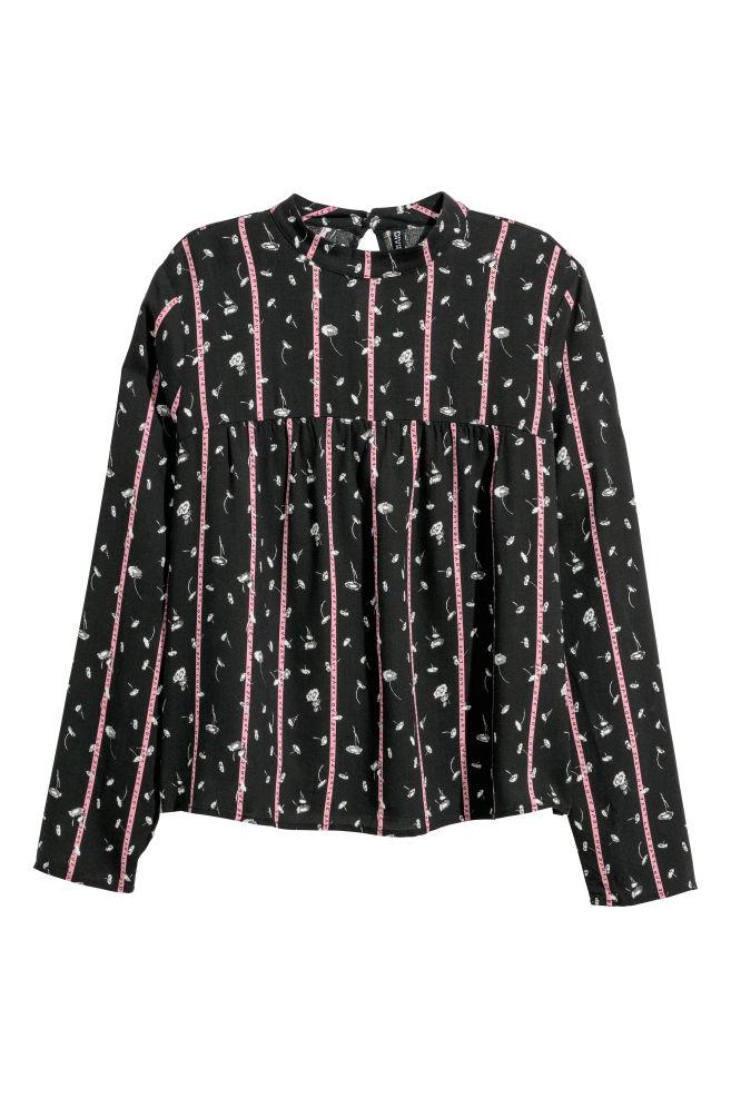 8b1dca6394c38 Patterned blouse - Black/Patterned - | H&M ...