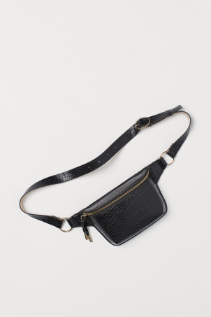 Crocodile-patterned Belt Bag