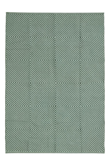 Jacquard-weave cotton rug - Dusky green/Patterned -  | H&M CN