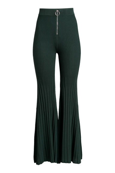 Pantaloni a coste - Verde scuro - DONNA | H&M IT