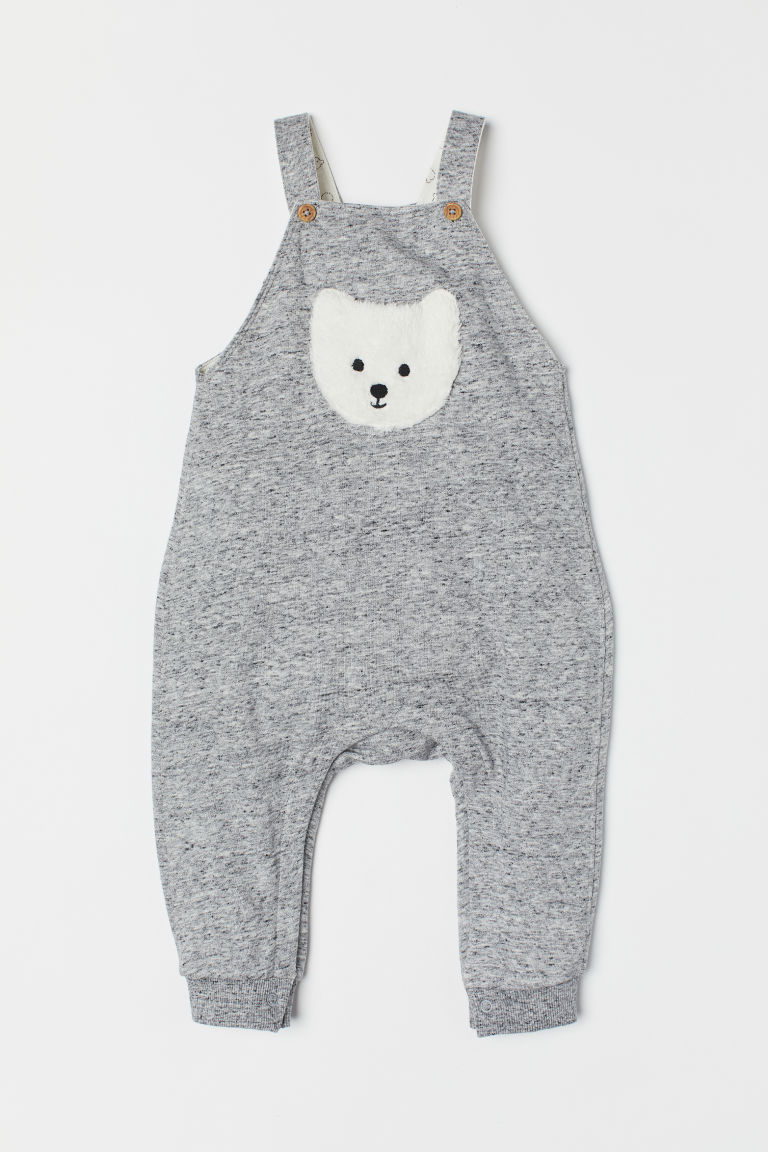 Dungarees - Grey marl/Nepped - Kids | H&M