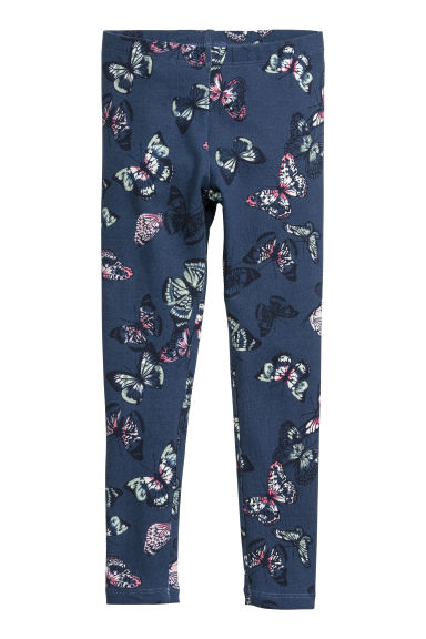Jersey leggings - Blue/Butterflies - Kids | H&M