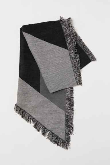 Block-patterned scarf - Light grey/Block-patterned - Ladies | H&M CN