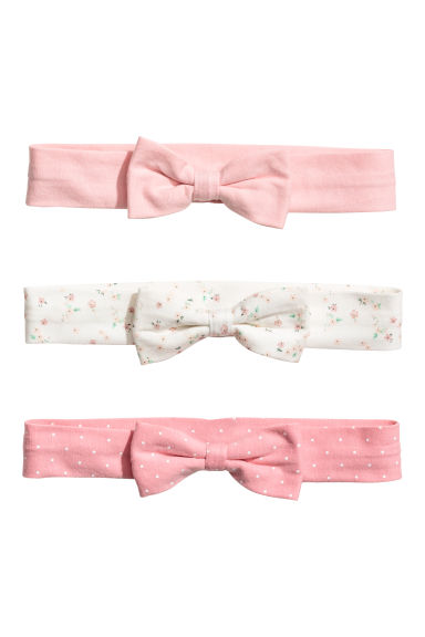 3-pack hairbands - Light pink/Floral - Kids | H&M CN