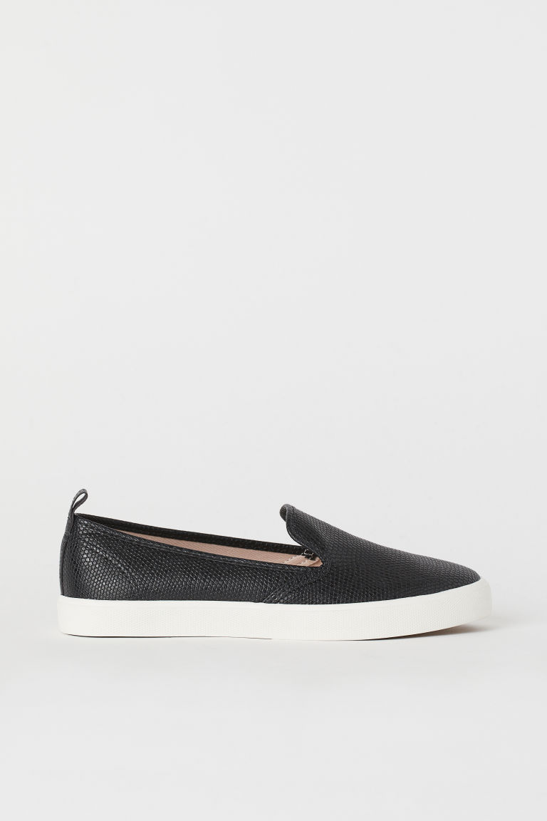 Slip-on trainers - Black/Grained - Ladies | H&M
