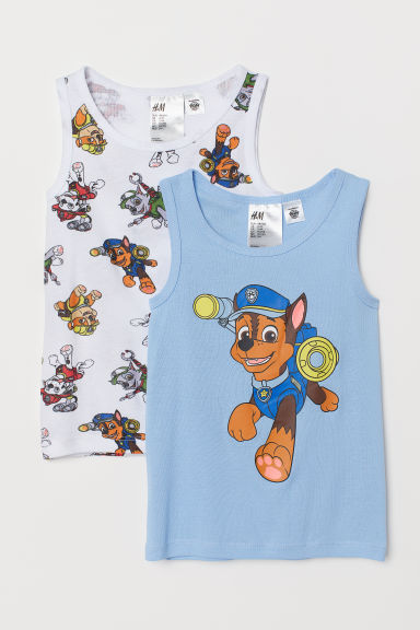 2-pack vest tops - Light blue/Paw Patrol - Kids | H&M CN