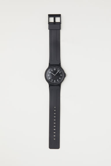 Plastic watch - Black - Men | H&M CN