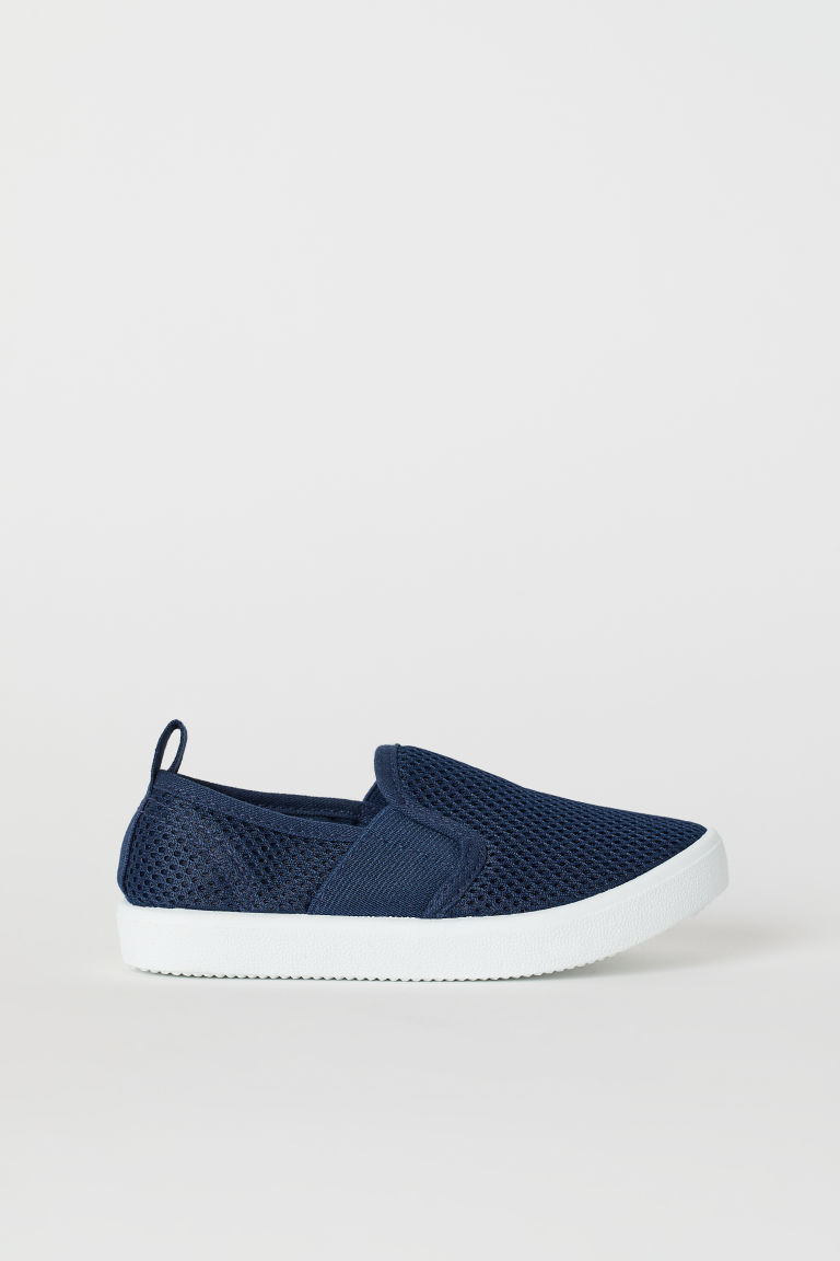 Slip-on trainers - Navy blue - Kids | H&M
