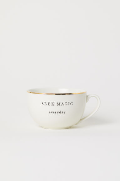 Porcelain Cup - White/Magic - Home All | H&M US