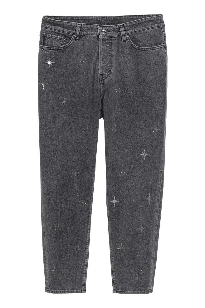 dedc2c0a55f0 H M+ Джинсы Vintage High Jeans - Черный Стразы - Женщины   H M ...