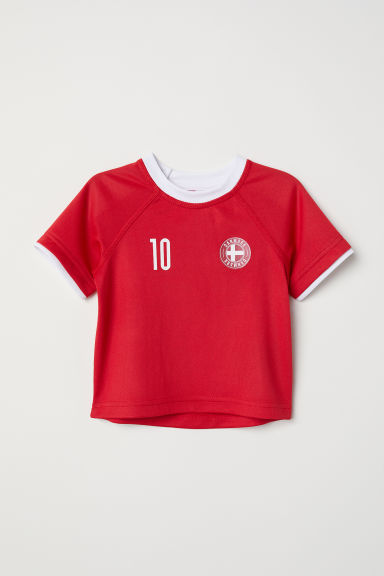 Maillot de football - Rouge/Danemark - ENFANT | H&M CH