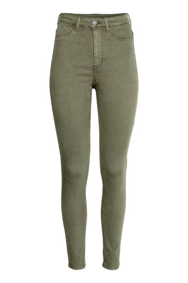 Super Skinny High Jeans - Haki -  | H&M TR