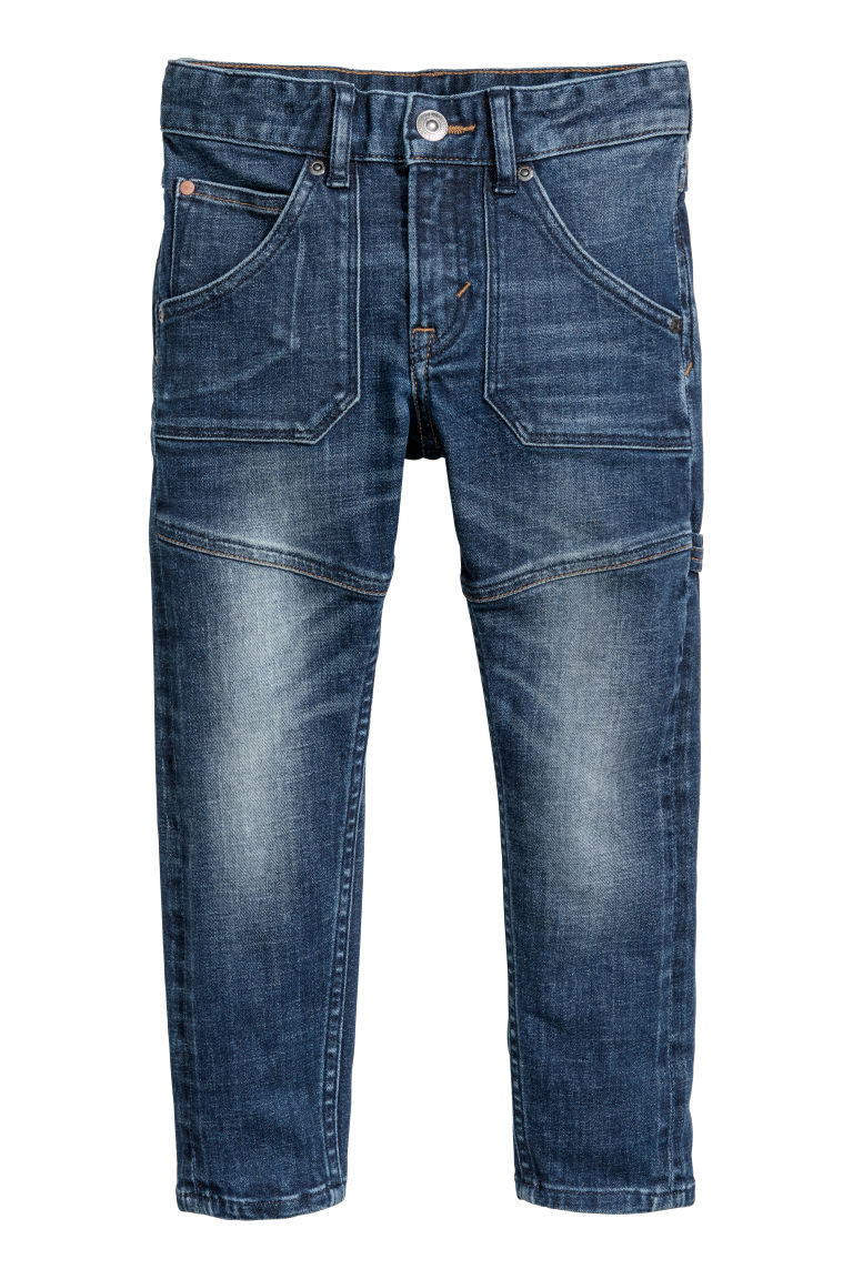 Relaxed Tapered Fit Jeans - Donker denimblauw - KINDEREN | H&M NL