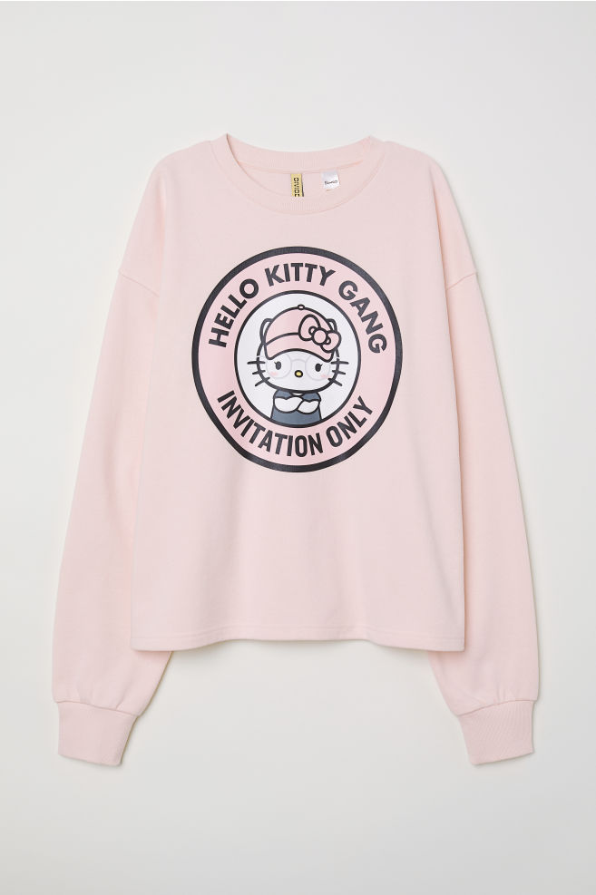 eee8c56a5 Sweatshirt with Printed Design - Light pink/Hello Kitty - Ladies | H&M ...